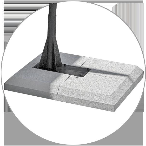 Cement-grit base