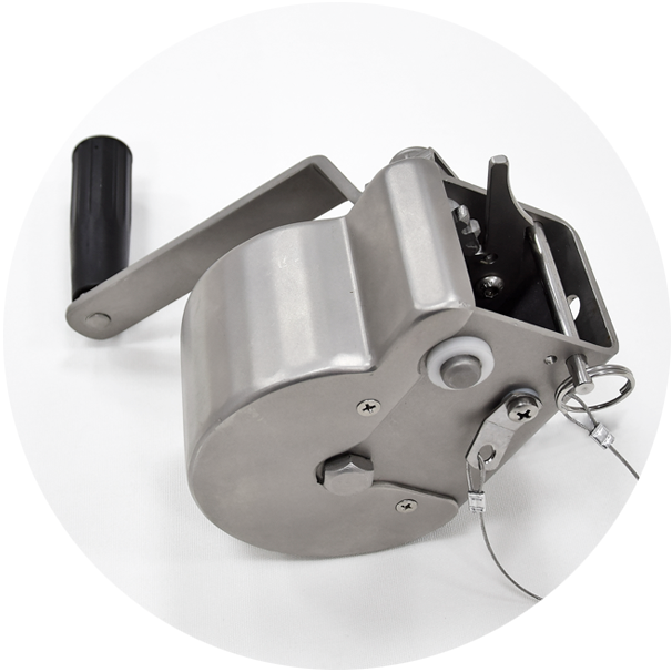 Stainless steel winch AISI 316L MAT finish